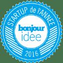 Startup de l'année bonjour idée 2016